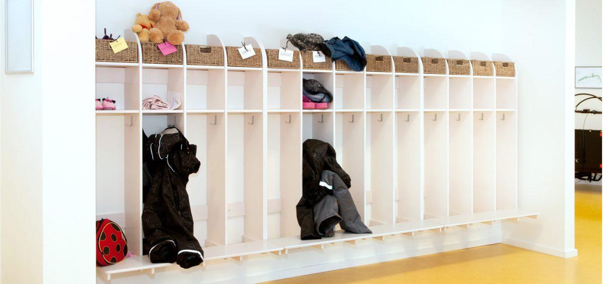 Slidstærke Børnegarderober & skabe fremmer et godt læringsmiljø